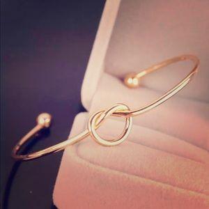 Gold Stainless Steel Knot Bracelet